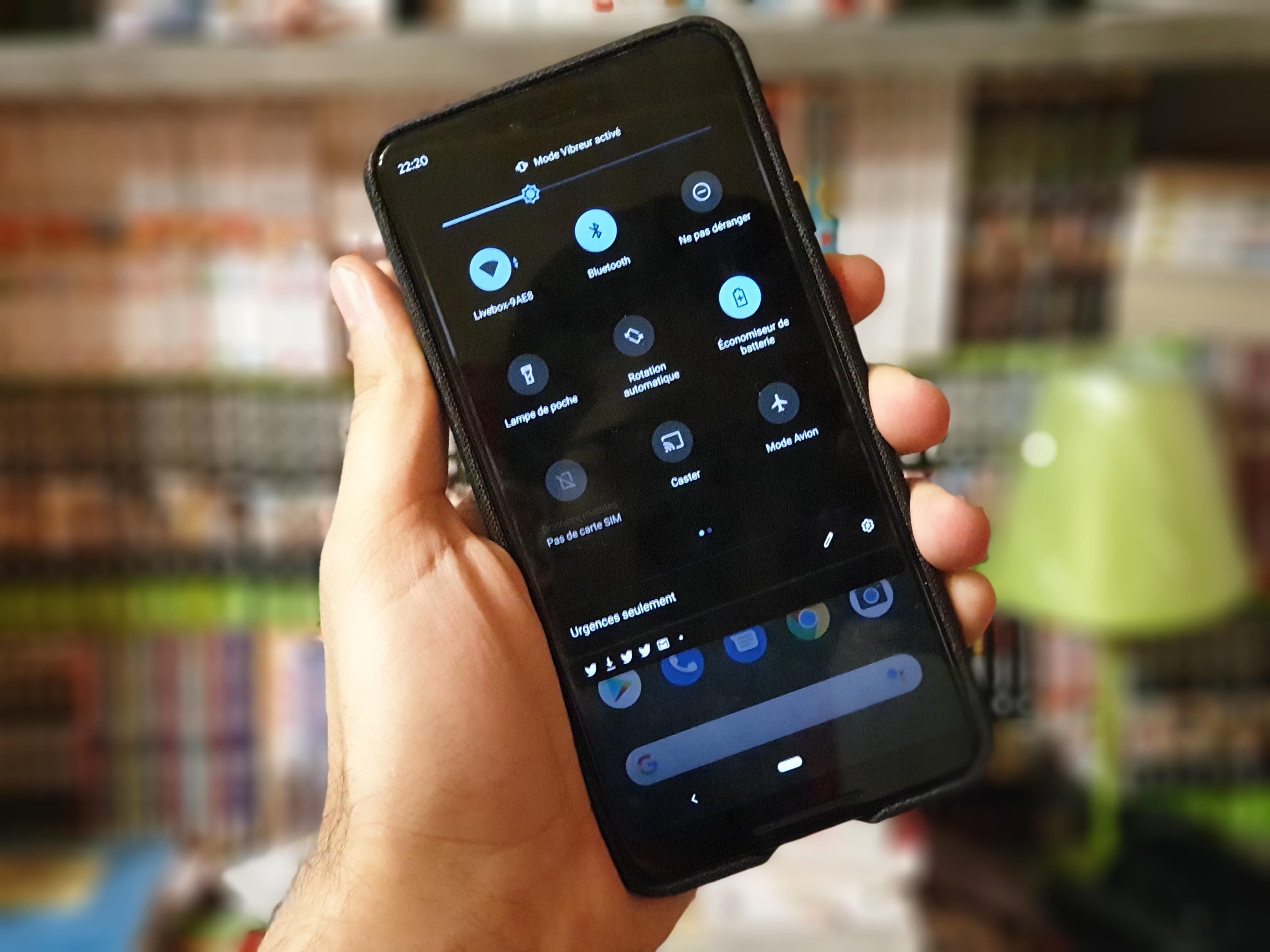 Android 10 Q : comment activer le mode sombre