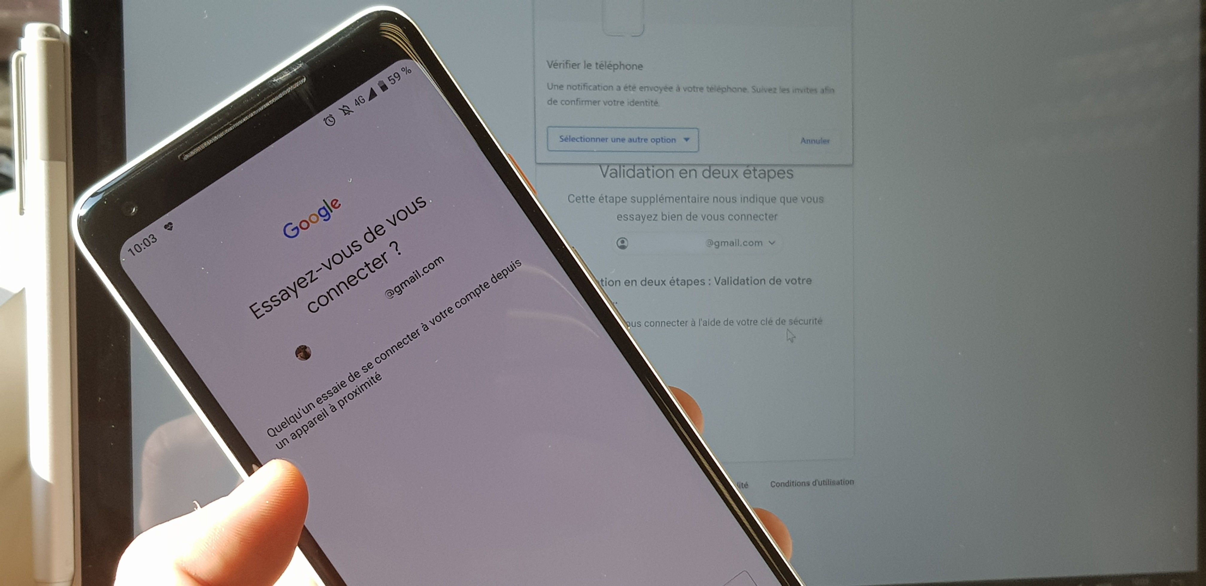 Votre smartphone Android devient la clé pour vous connecter à votre compte Google