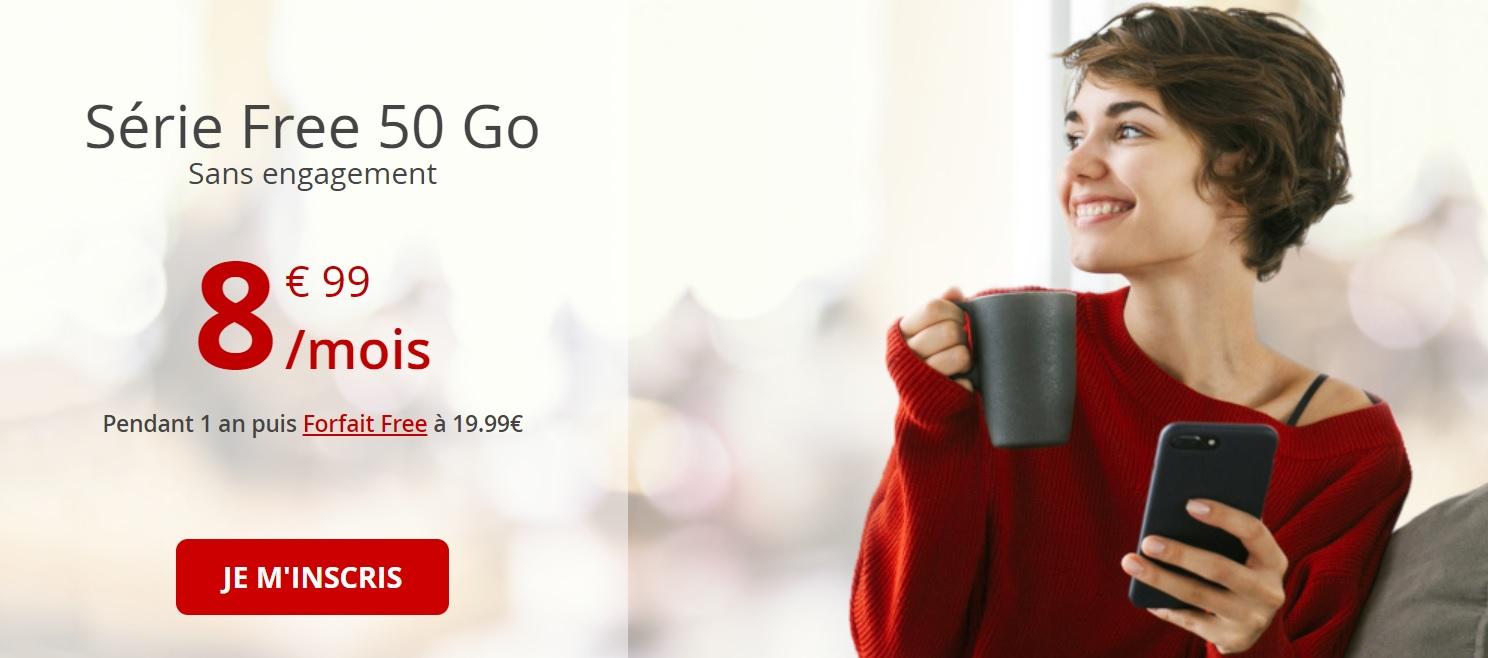🔥 Bon plan : 50 Go de 4G à 8,99 euros par mois sans engagement chez Free Mobile