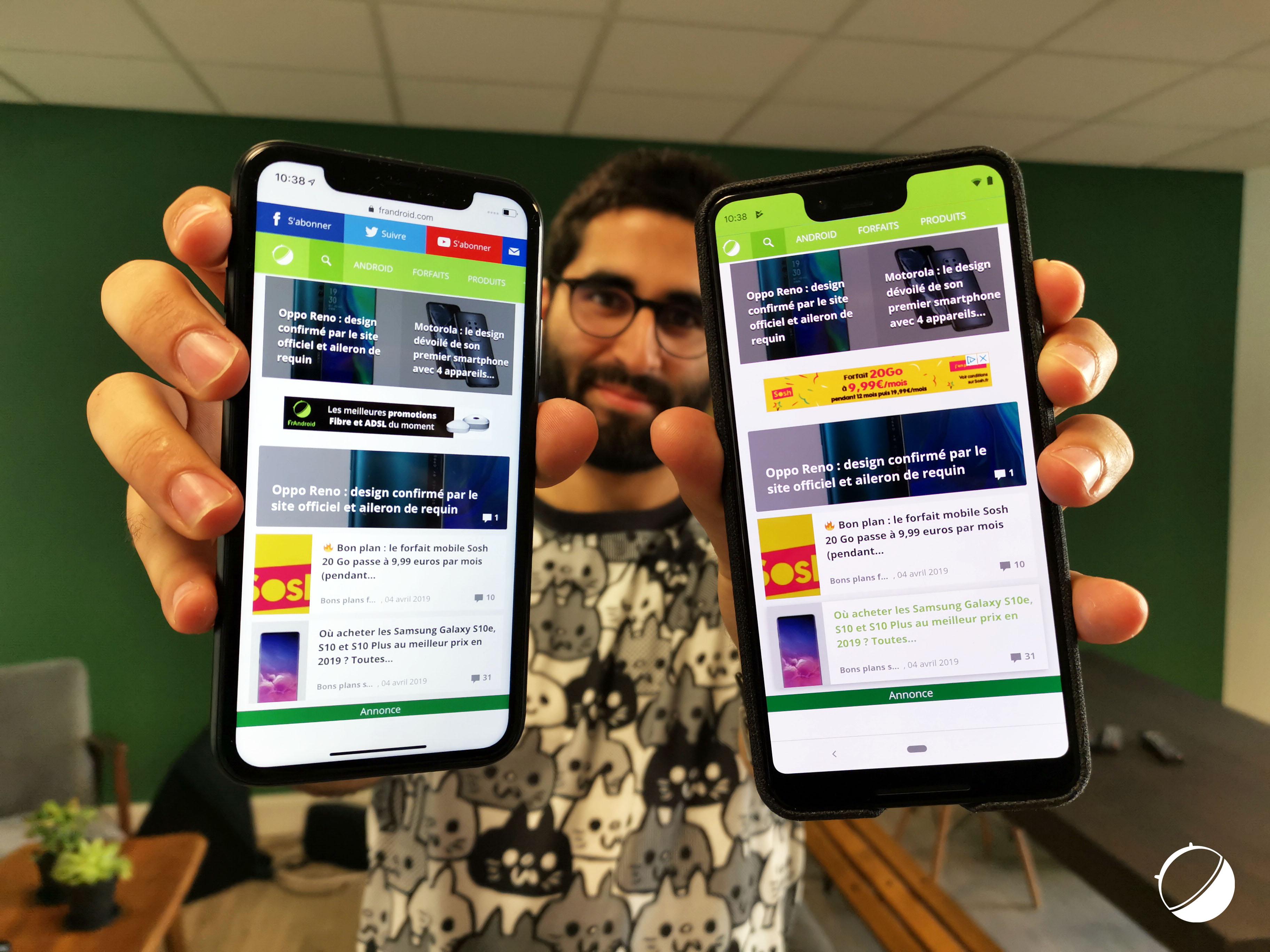 Android 10 Q : la navigation par gestes s'inspire des iPhone X et Xs