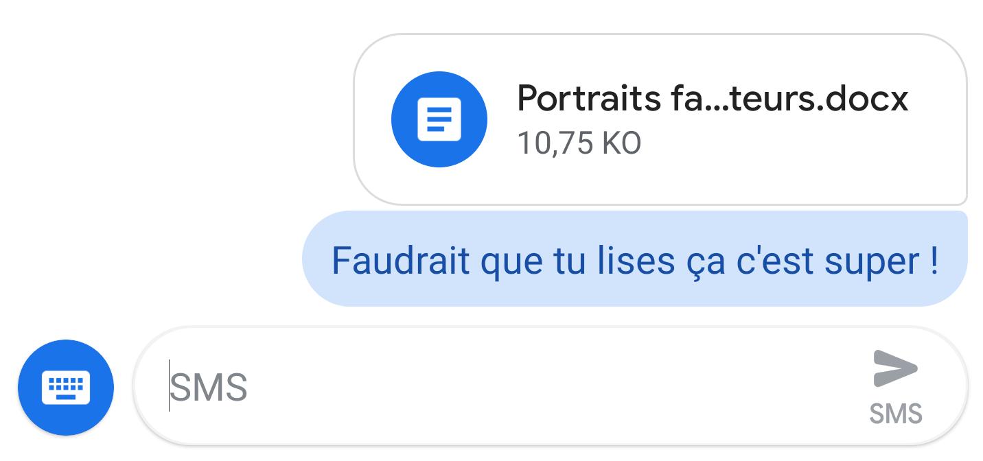 Android Messages 4.2 supporte l'envoi de n'importe type de pièce jointe