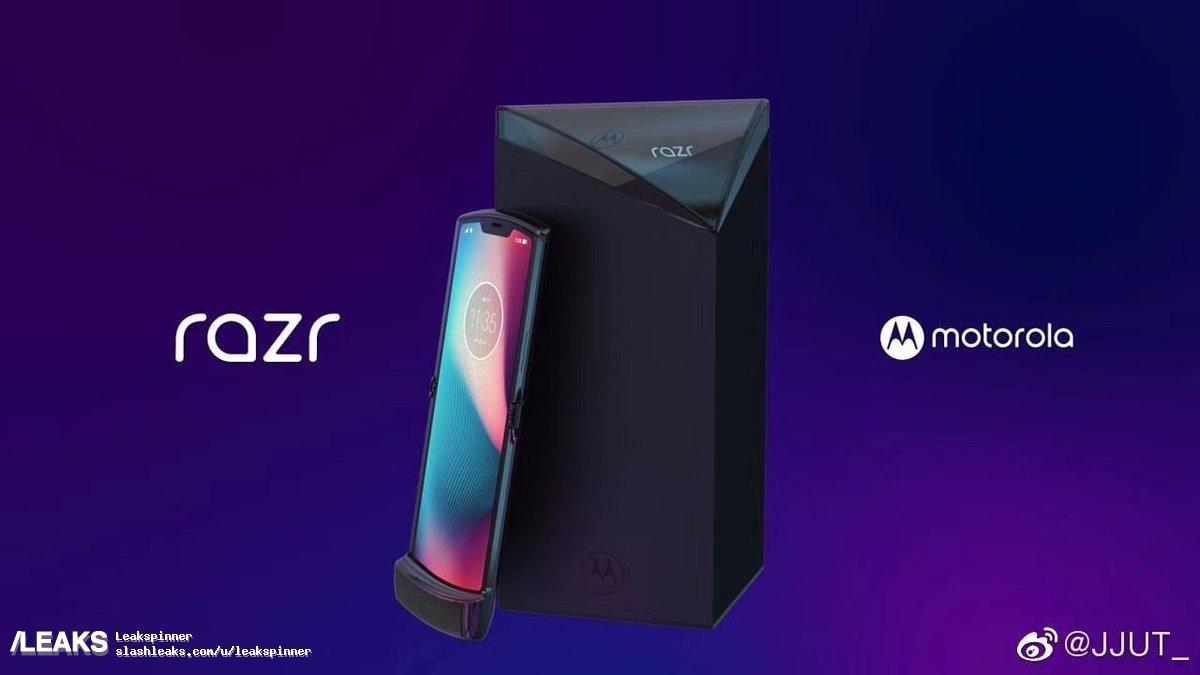 Le Motorola Razr à écran flexible se dévoile dans de nouveaux rendus
