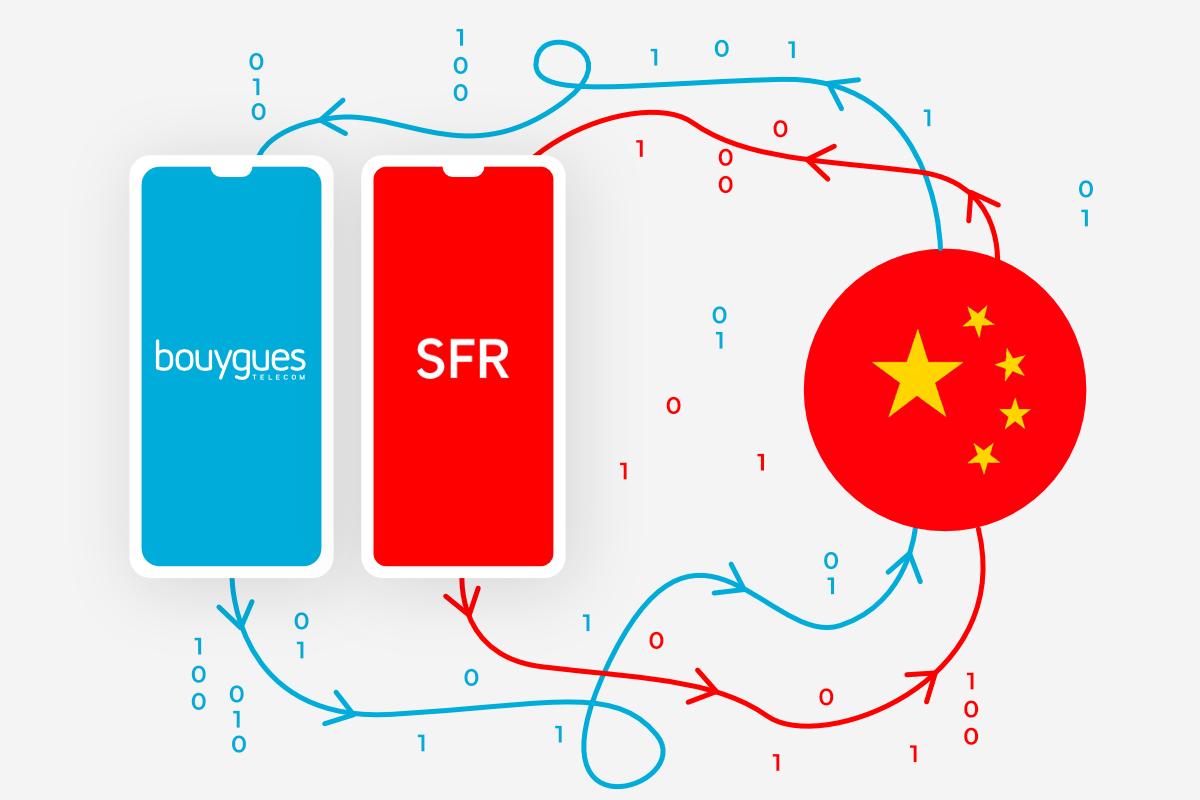 Bouygues Telecom et SFR : pourquoi vos données ont peut-être transité par la Chine