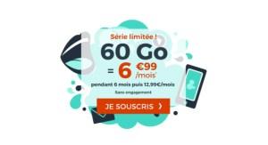 🔥 Bon plan : 60 Go de 4G pour 6,99 euros par mois via un forfait mobile sans engagement