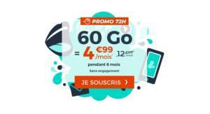 🔥 Soldes 2019 : un forfait mobile avec 60 Go de 4G pour 4,99 euros par mois