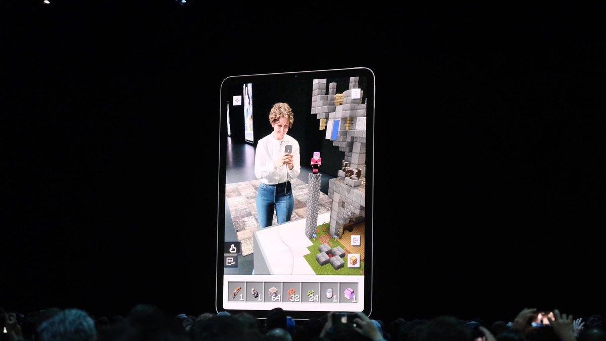 Regardez cette démo de Minecraft Earth sur un iPad Pro
