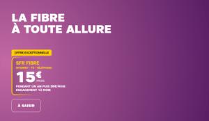 L'offre SFR du moment : forfait Fibre + Mobile 60 Go à 25 euros par mois