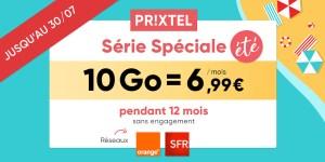 Dernier jour : le forfait ajustable Prixtel à partir de 6,99 euros pour 10 Go