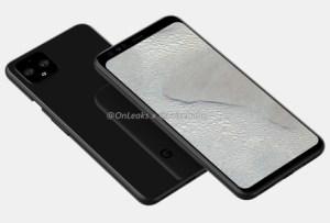 Le Google Pixel 4 XL montre son design avec un double capteur photo avant