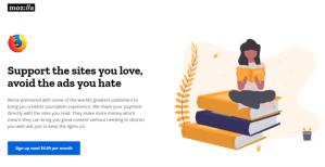 Mozilla va proposer un navigateur sans pub à 5 dollars par mois