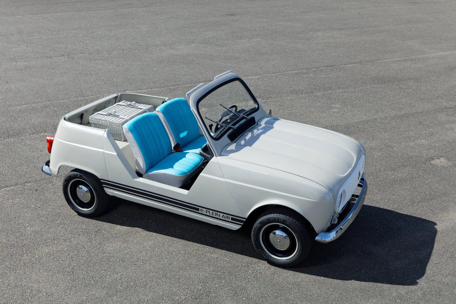 Nostalgie quand tu nous tiens : la Renault 4L Plein Air ressuscitée en mode électrique
