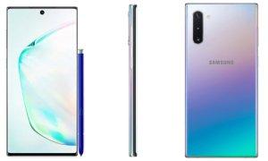 Samsung Galaxy Note 10: images officielles et coloris apparaissent avant l'heure