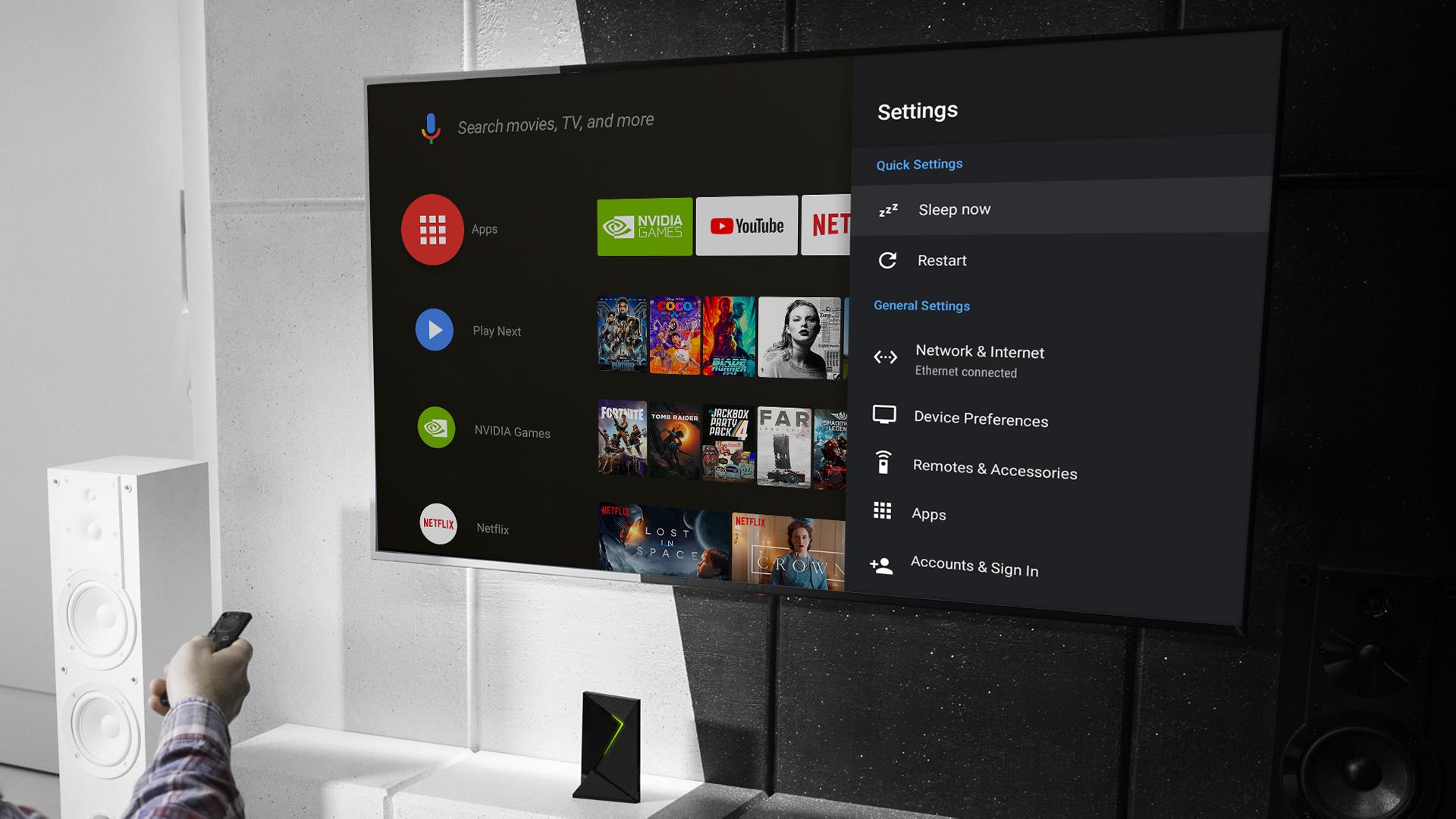 Nvidia Shield TV : 4 ans de mises à jour, Android 9.0 Pie est là