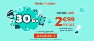 Forfait mobile : 30 Go pour 2,99 euros par mois via une offre sans engagement