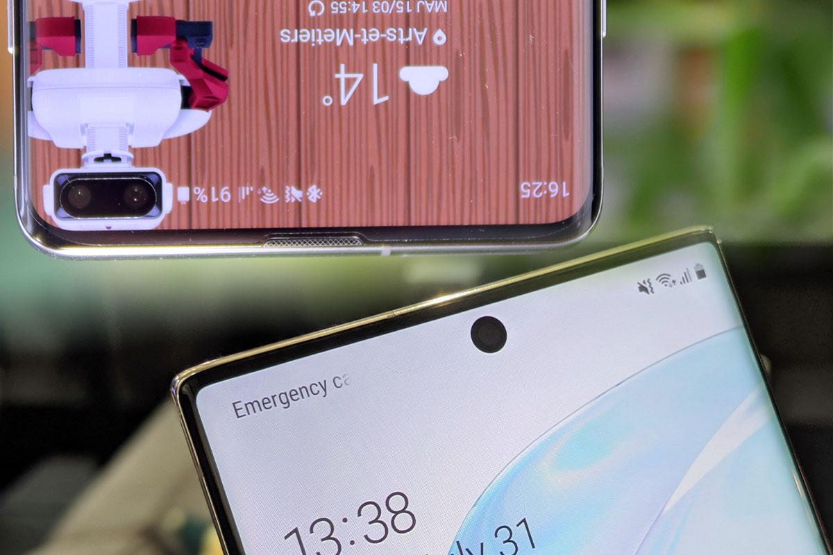 Samsung Galaxy Note 10 VS Galaxy S10+ : toutes les différences à noter