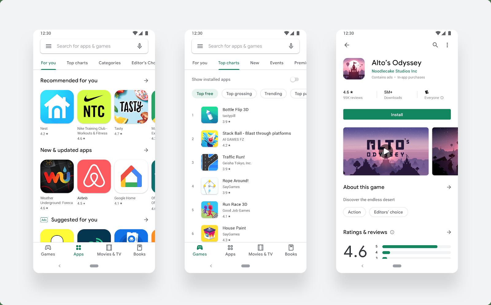Vous pourriez bientôt noter une application sans passer par Google Play