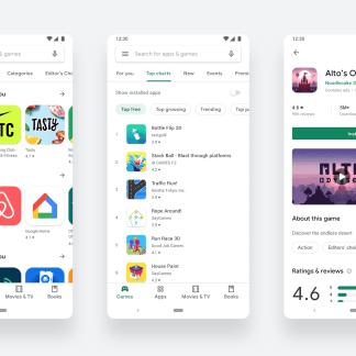 Google Play Store : la toute nouvelle interface Material est officielle
