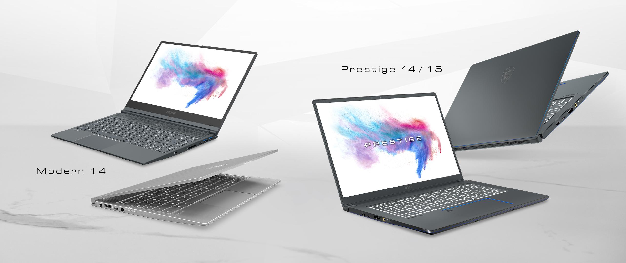 MSI cible les créatifs avec 3 nouveaux PC portables équipés des dernières puces Intel