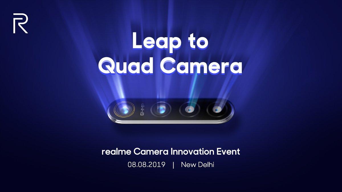 4 capteurs photo, 64 mégapixels: Realme promet une «première mondiale»