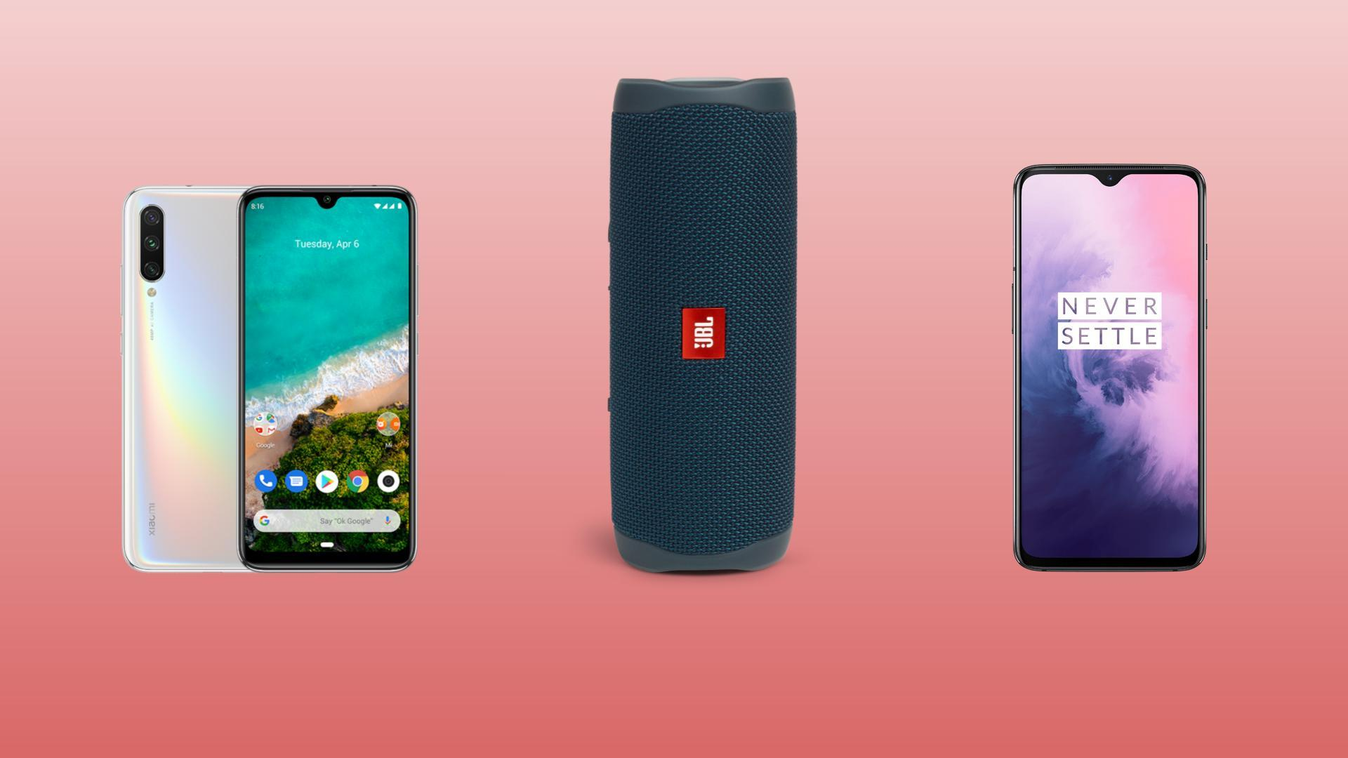 OnePlus 7 à 389 euros, Xiaomi Mi A3 à 167 euros et enceinte JBL Flip 5 à 95 euros