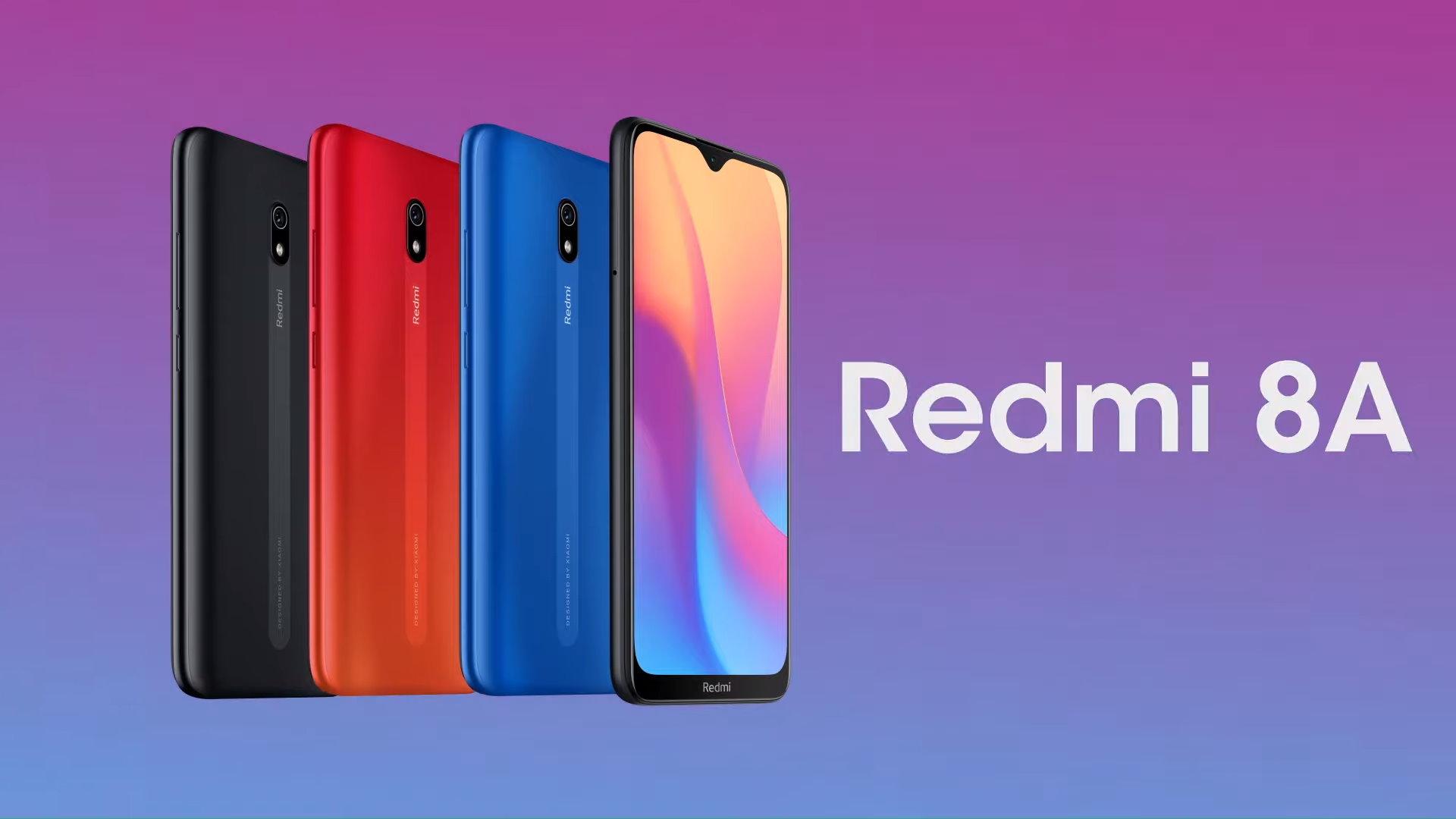 Xiaomi Redmi 8A dévoilé : charge rapide USB-C et batterie de 5000 mAh