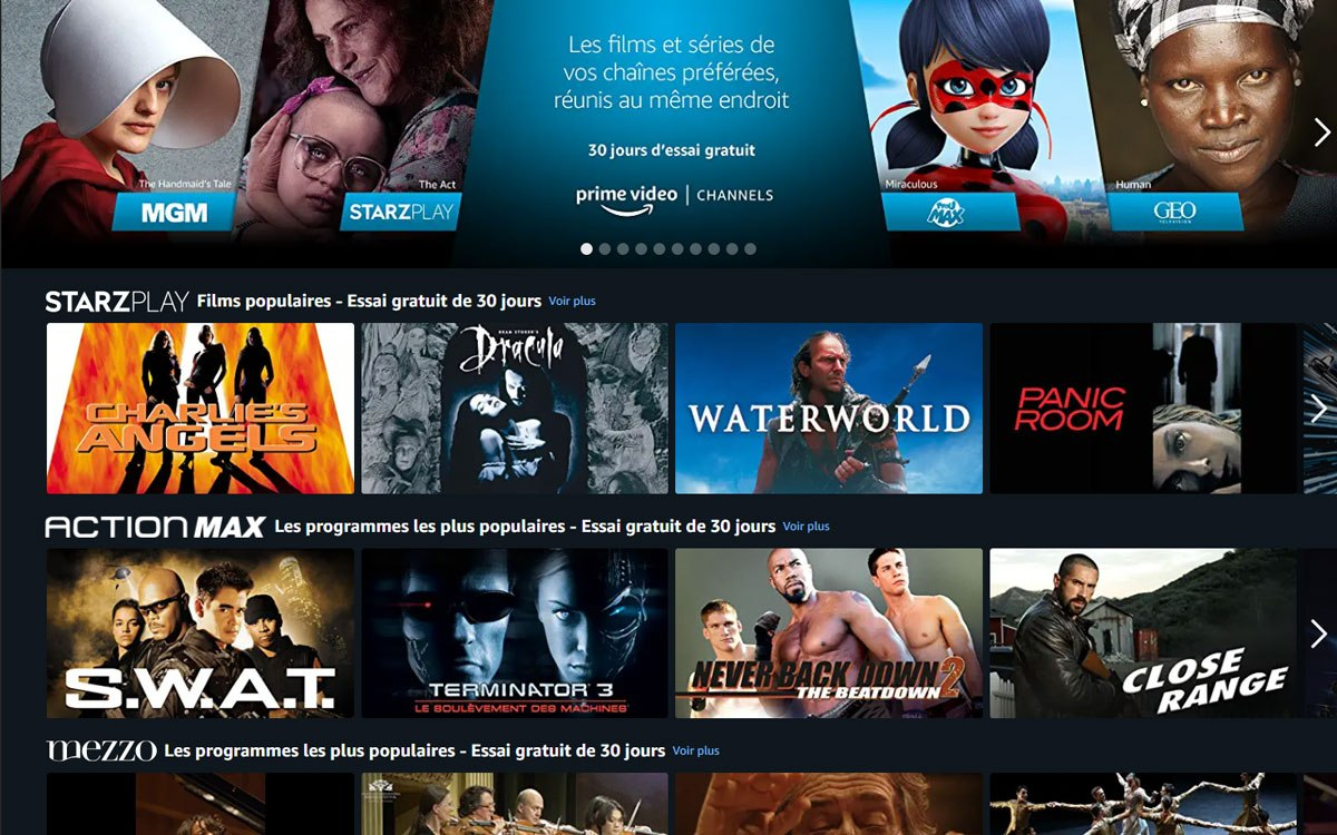 Amazon Prime Video concurrence Molotov TV en lançant Channels en France