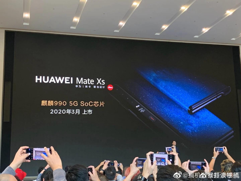 Huawei Mate Xs : le Mate X corrigé aura une charge ultra rapide de 65W