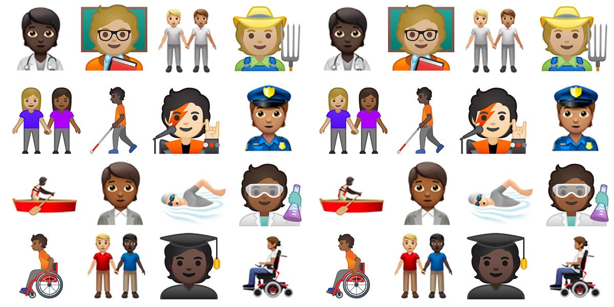Unicode : 168 nouveaux émojis officialisés, dont 138 non genrés