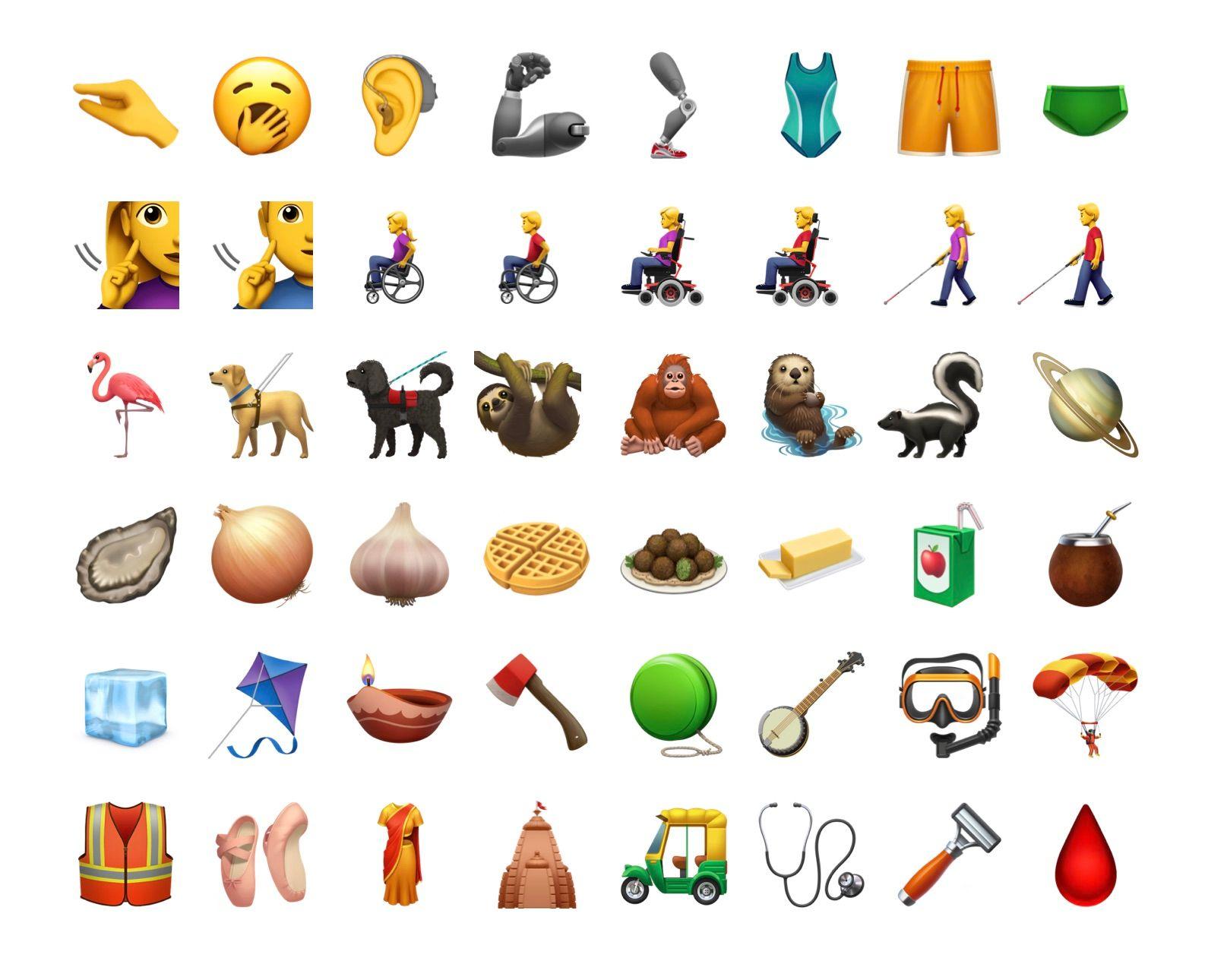Loutre, bâillement, gaufre… les nouveaux émojis d'iOS 13.2 disponibles dans la bêta 2