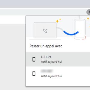 Chrome sur PC vous permet d'appeler un numéro sur votre smartphone
