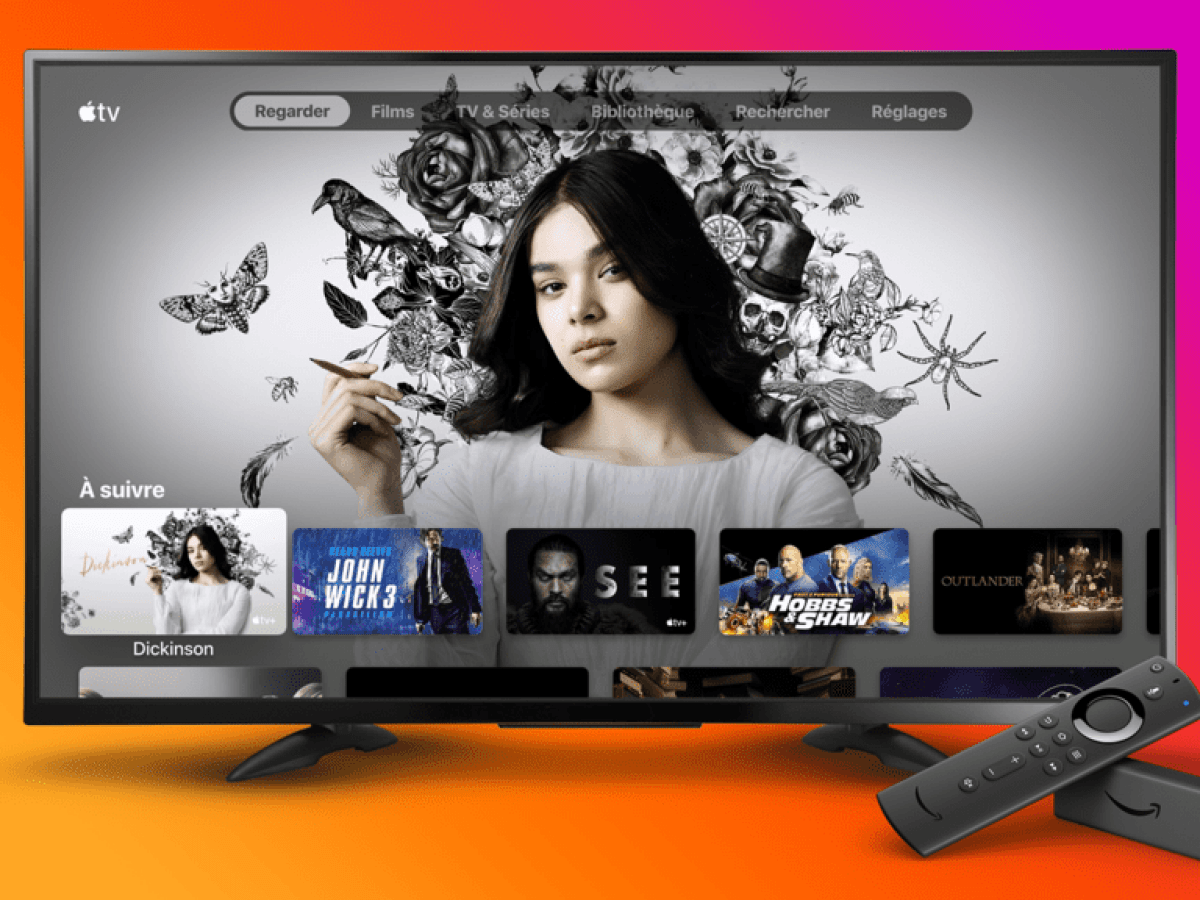 L'app Apple TV fait son entrée sur l'Amazon Fire TV, on l'attend désormais sur le Play Store