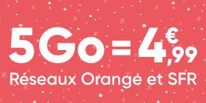 Passez au forfait mobile ajustable de Prixtel : à partir de 4,99 euros pour 5 Go de data