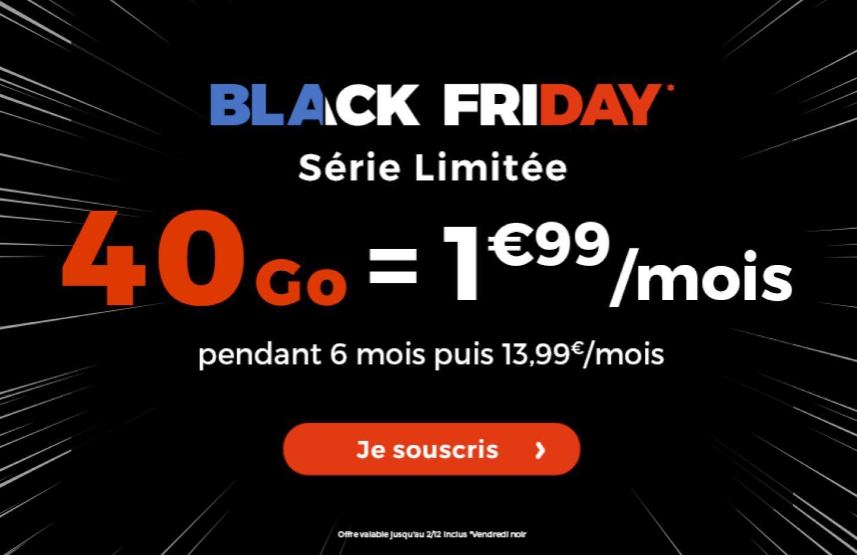 Un forfait mobile 40 Go à 1,99 euros par mois fait son apparition pour le Black Friday – dernier jour