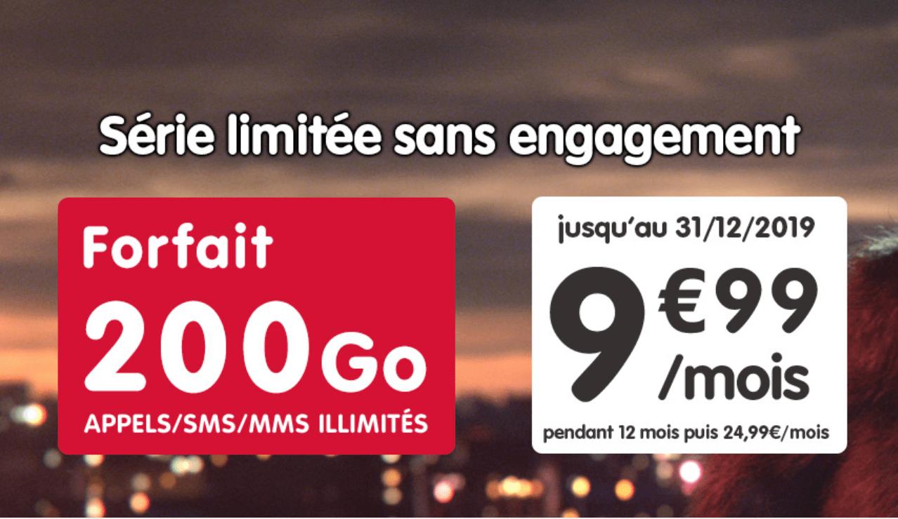 NRJ Mobile passe à 200 (!) Go à 9,99 euros pendant un 1 an pour le Black Friday