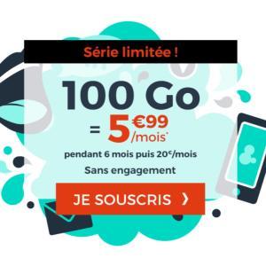 Pour l'arrivée du Black Friday, ce forfait mobile 100Go est à 5,99euros/mois