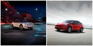 Ford Mustang Mach-E vs Tesla Model Y : comparatif des SUV électriques