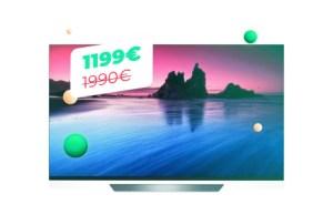 Le TV OLED LG 55E8 qui passe à 1199 euros pour le Cyber Monday