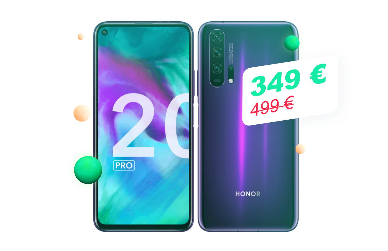 Du premium à petit prix avec le Honor20 Pro à moins de 350€ pour le Cyber Monday