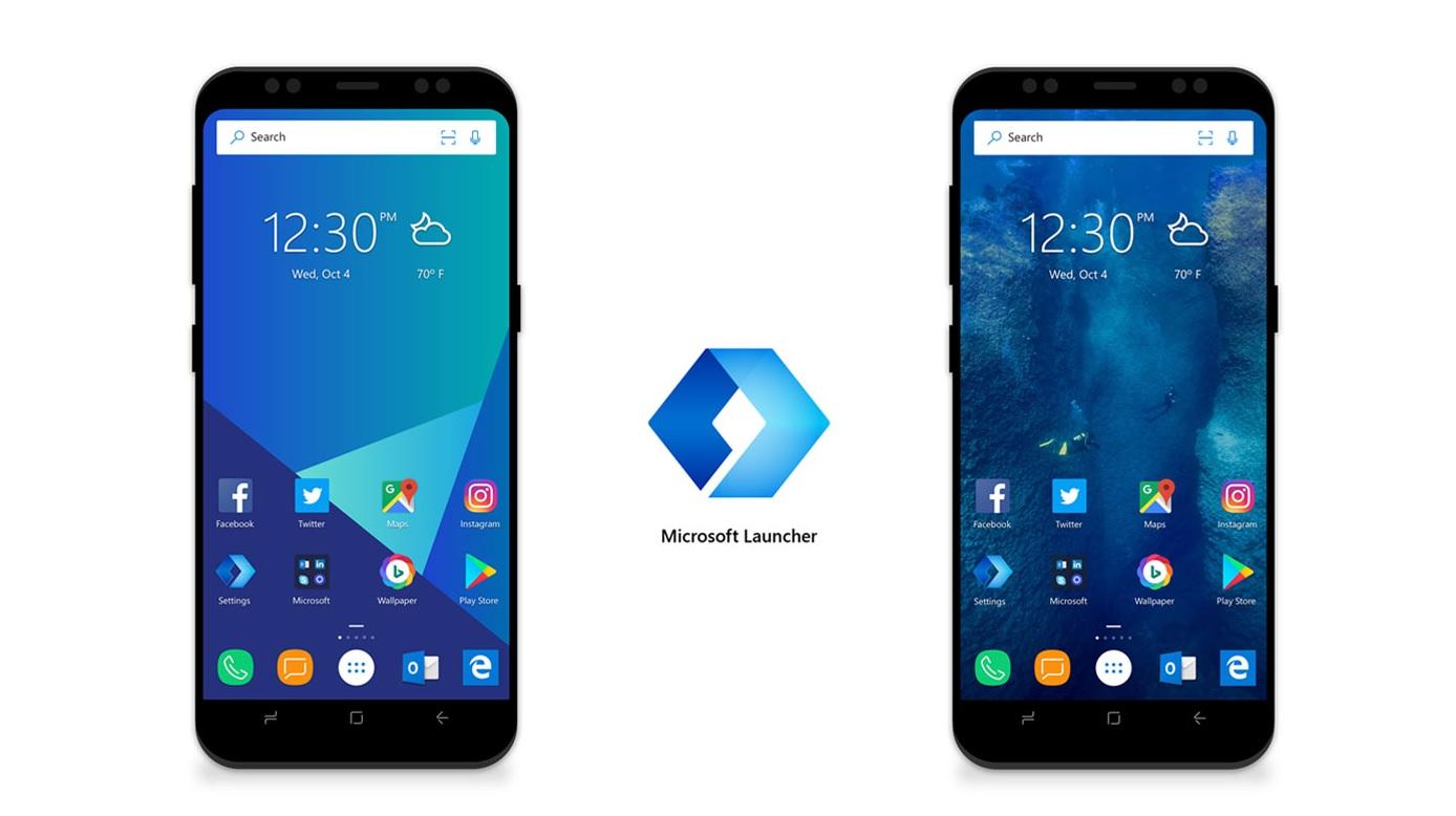 La navigation par gestes d'Android 10 déboulent sur Microsoft Launcher