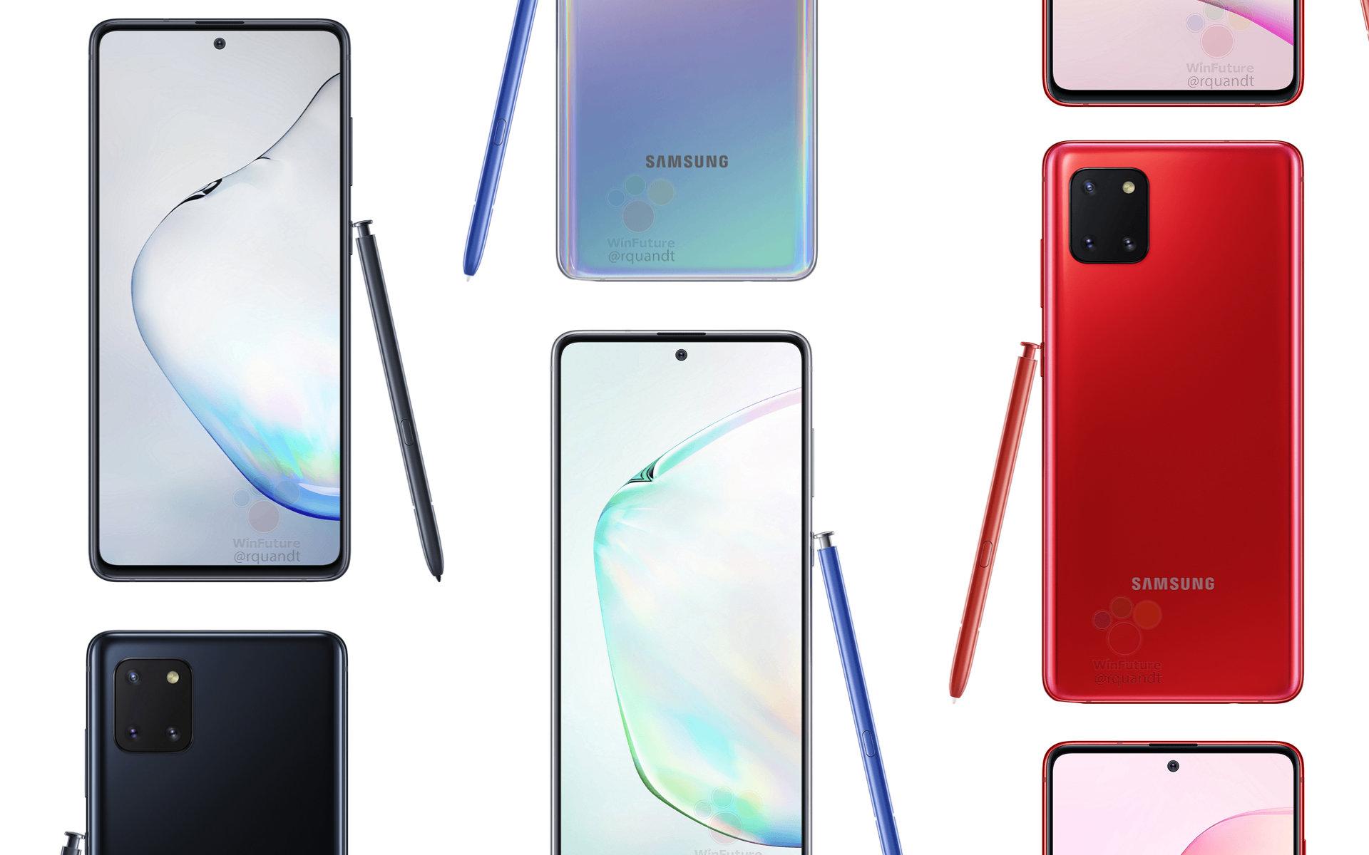 Samsung Galaxy Note 10 Lite : voici les images presse avant l'heure
