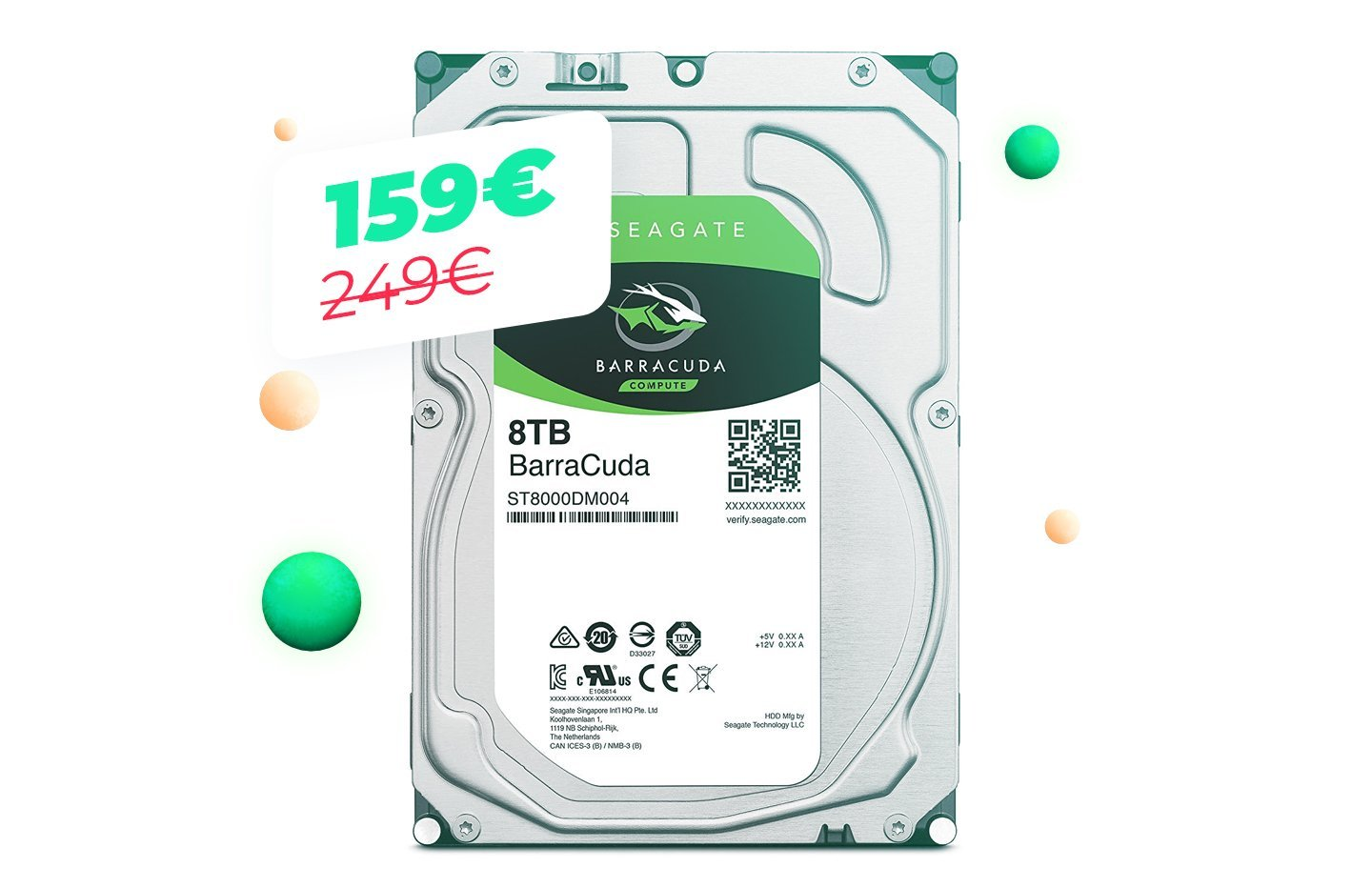 Le disque dur Seagate Barracuda 8 To à 167 euros pour le Cyber Monday