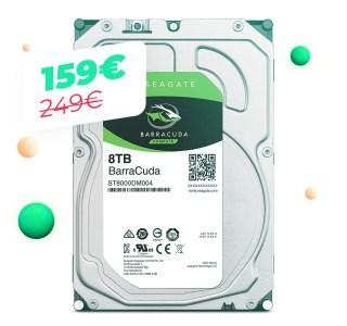Le disque dur Seagate Barracuda 8 To à 167 euros pour le Cyber Monday