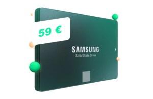 Le SSD Samsung 860 EVO de 500 Go descend à 59 € pour le Cyber Monday