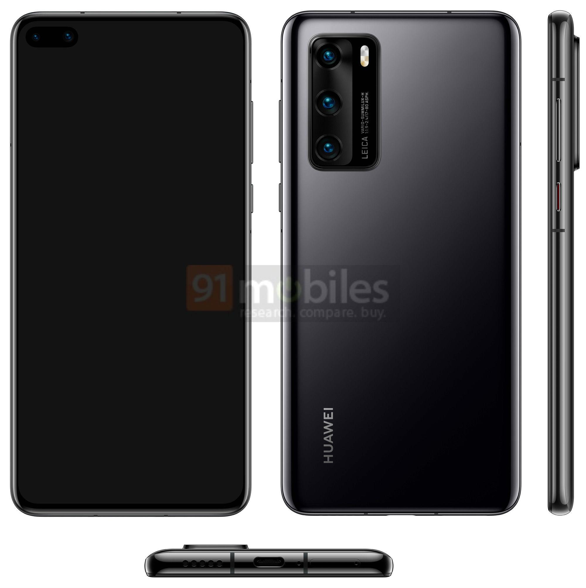 Le Huawei P40 aurait une double bulle dans l'écran, comme le Galaxy S10+