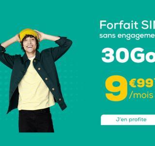 Un forfait mobile 30Go pour moins de 10euros par mois à vie, ça existe?