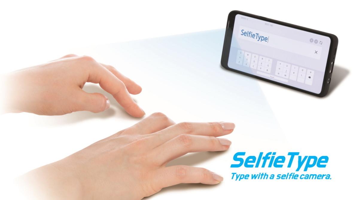 SelfieType : l'étrange clavier imaginaire de Samsung sera présenté au CES