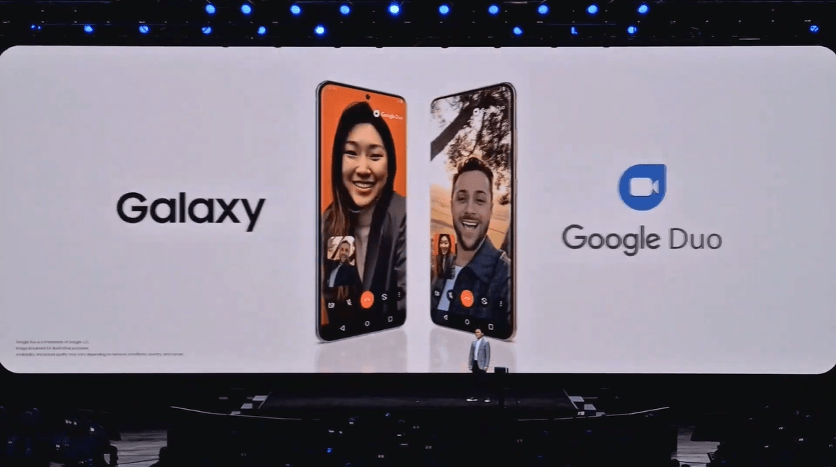 Samsung Galaxy S20 : grâce à Google Duo, Samsung a enfin son FaceTime