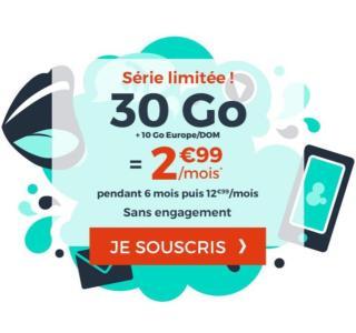 Ce forfait mobile à petit prix offre 10Go en Europe en plus des 30Go en France