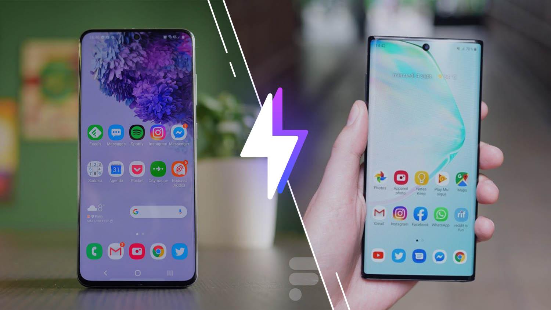 Samsung Galaxy S20 vs Galaxy Note 10 : lequel est le meilleur smartphone ?