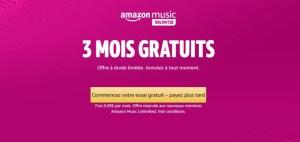 Amazon Music Unlimited est disponible gratuitement pendant 3 mois